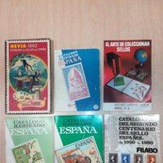 Sellos: LOTE 6 CATÁLOGOS SELLOS DE 1962 A 1980. Lote 140341686