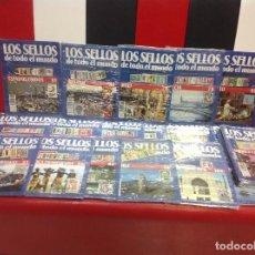 Sellos: LOS SELLOS DE TODO EL MUNDO, LOTE DE 27 FASCICULOS CON LOS SELLOS, PLANETA AGOSTINI. Lote 146006254