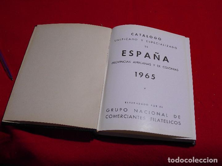 CATALOGO UNIFICADO DE ESPAÑA Y PROVINCIAS AFRICANAS Y EX COLONIAS 1965 (Filatelia - Sellos - Catálogos y Libros)