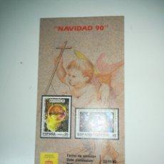 Sellos: FOLLETO DE SELLOS CORREOS EMISION NAVIDAD 1990. Lote 148236924