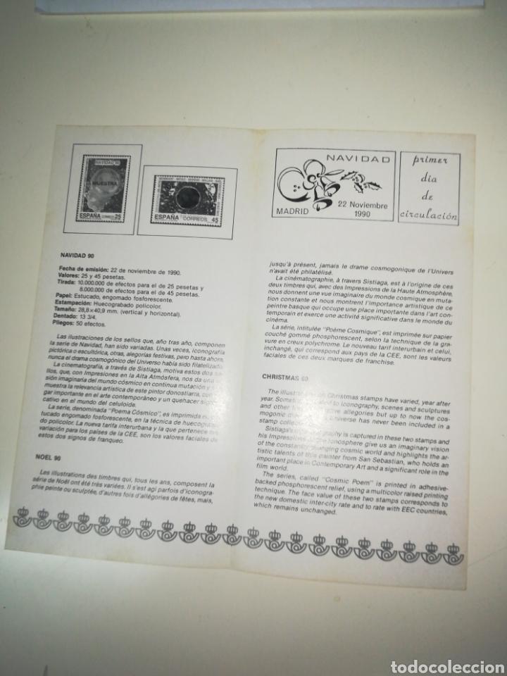 Sellos: Folleto de sellos correos emision Navidad 1990 - Foto 2 - 148236924