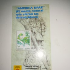 Sellos: FOLLETO SELLOS CORREOS EMISION AMERICA UPAE 14-11-1990. Lote 148296614