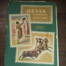 Selos: HEVIA. CATALOGO DE SELLOS DE ESPAÑA. EX-COLONIAS SESPAÑOLAS PROVINCIAS AFRICANAS. 14ª ED. 1961.. Lote 148415010