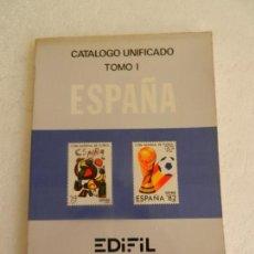 Sellos: CATALOGO EDIFIL UNIFICADO TOMO I ESPAÑA Y DEPENDENCIAS POSTALES 1983.. Lote 150011002