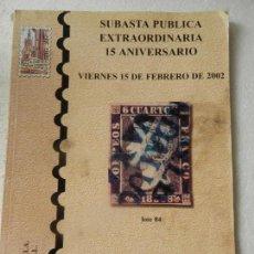 Sellos: CATALOGO SUBASTAS SEVILLA - SELLOS, MONEDAS, BILLETES, TARJETAS DE TELEFONO Y OTROS...- FEBRERO 2002. Lote 150137722