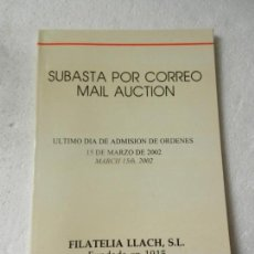 Briefmarken - CATALOGO SUBASTA DE FILATELIA LLACH BARCELONA MARZO 2002. - 150142694