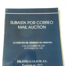Briefmarken - CATALOGO SUBASTA DE FILATELIA LLACH BARCELONA SEPTIEMBRE 2003 - SUBASTA POR CORREO. - 150143278