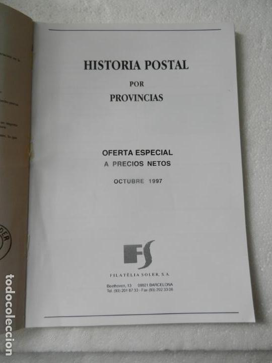 Sellos: CATALOGO FILATELIA SOLER BARCELONA OCTUBRE 1997 - HISTORIA POSTAL POR PROVINCIAS. - Foto 2 - 150152010