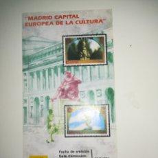 Sellos: FOLLETO CORREOS SELLOS EMISIÓN MADRID CAPITAL EUROPEA CULTURA 1991. Lote 150758740