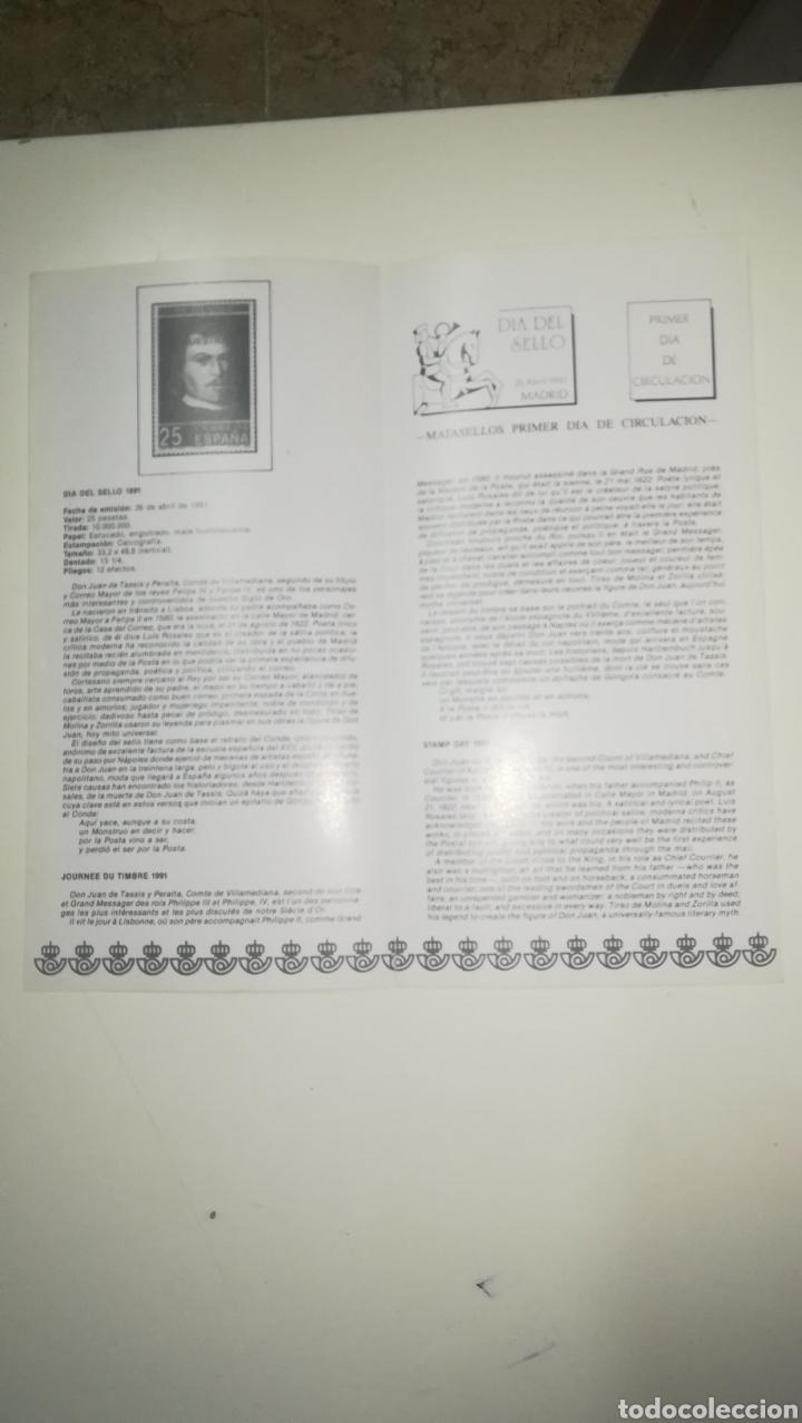 Sellos: Folleto correos sellos emisión Día del sello 1991 - Foto 2 - 150825926