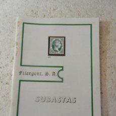 Sellos: SUBASTAS FILARGENT SELLOS JULIO 1991. . Lote 152955818