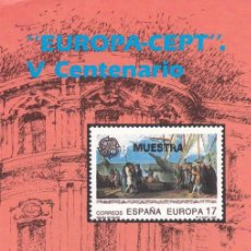 Sellos: 1992 - BOLETIN FILATELICO - EUROPA CEPT - V CENTENARIO - Nº 11/92. Lote 153183270
