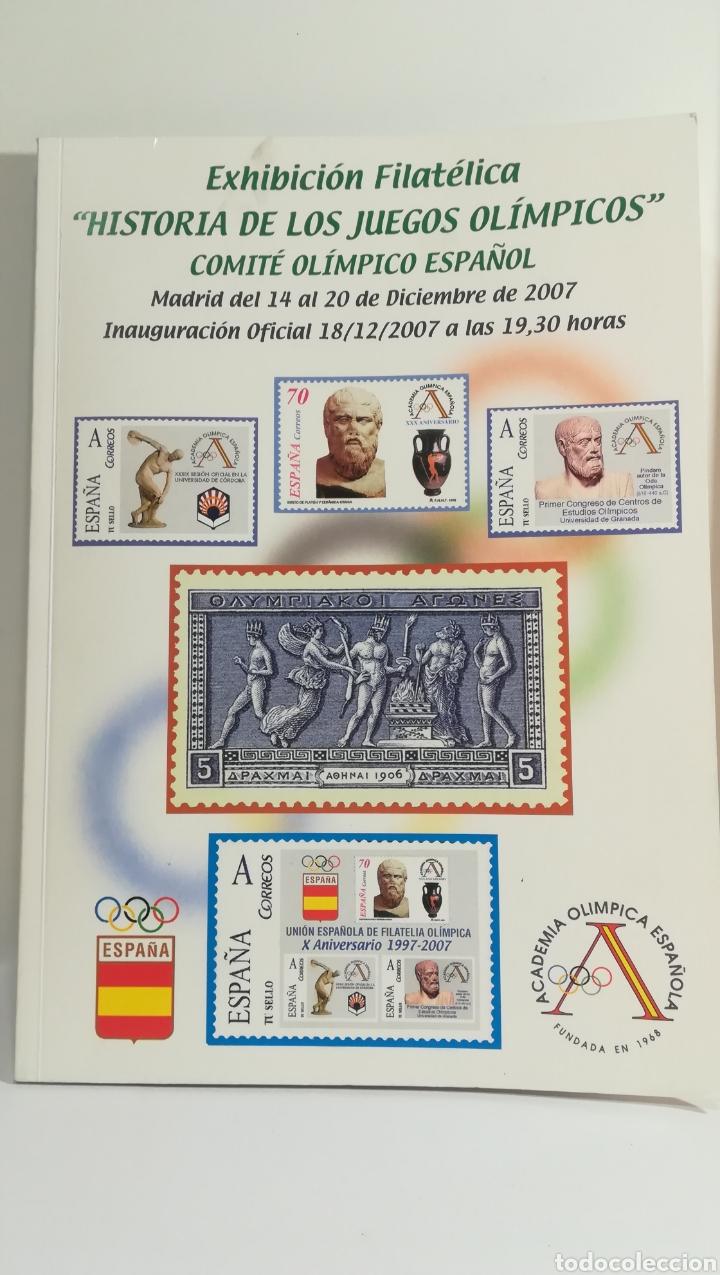 HISTORIA DE LOS JUEGOS OLIMPICOS (Filatelia - Sellos - Catálogos y Libros)