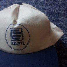 Sellos: EDIFIL CATÁLOGOS Y ÁLBUMES PARA SELLOS GORRA VISERA PUBLICIDAD NUEVA. Lote 153309309