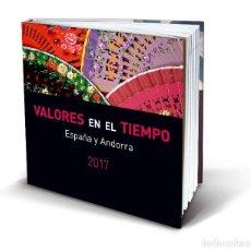 Sellos: ESPAÑA 2017 - EL LIBRO DE LOS SELLOS DEL 2017 DE LA FNMT - VALORES EN EL TIEMPO. Lote 154622186