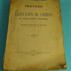 Sellos: TRATADO DE LEGISLACIÓN DE CORREOS SERVICIO INTERIOR E INTERNACIONAL. ANTONIO SOMOZA DE ARMAS. 1919. Lote 155290934
