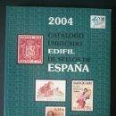 Sellos: CTC - CATALOGO UNIFICADO EDIFIL DE SELLOS DE ESPAÑA 2004 - COMO NUEVO.. Lote 155623490