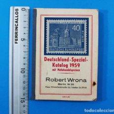 Sellos: CATALOGO DE SELLOS ALEMAN: DEUTSCHLAND SPEZIAL KATALOG 1959 MIT NETTOHANDELSPREISEN WRONA 248 PAG. Lote 156591278