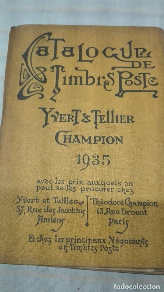 CATALOGO DE SELLOS MUNDIAL EN FRANCES 1935 (Filatelia - Sellos - Catálogos y Libros)