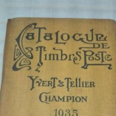 Sellos: CATALOGO DE SELLOS MUNDIAL EN FRANCES 1935. Lote 156616578