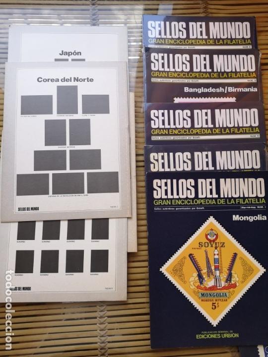 Sellos: 9 FASCICULOS (DE SELLOS DEL MUNDO )EDICIONES URBION ,AÑOS 80 - Foto 2 - 157125406