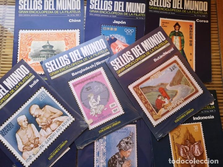 Sellos: 9 FASCICULOS (DE SELLOS DEL MUNDO )EDICIONES URBION ,AÑOS 80 - Foto 3 - 157125406