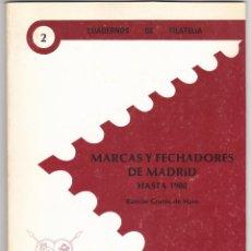 Sellos: MARCAS Y FECHADORES DE MADRID HASTA 1900 (RAMÓN CORTES DE HARO). Lote 160462466