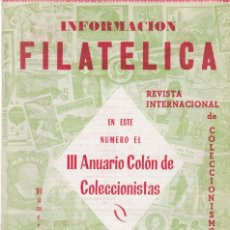 Francobolli: INFORMACION FILATELICA - EXTRAORDINARIO - Nº 20 / ENERO-FEBRERO 1964 - ILUSTRADA. Lote 165187174