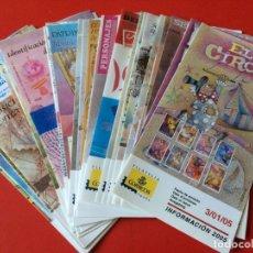 Sellos: AÑO 2005 36 FOLLETOS INFORMATIVOS SERVICIO FILATELICO CORREOS. Lote 166023562