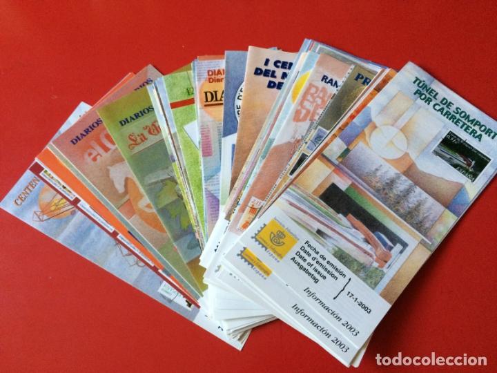 AÑO 2003 55 FOLLETOS INFORMATIVOS SERVICIO FILATELICO CORREOS (Filatelia - Sellos - Catálogos y Libros)