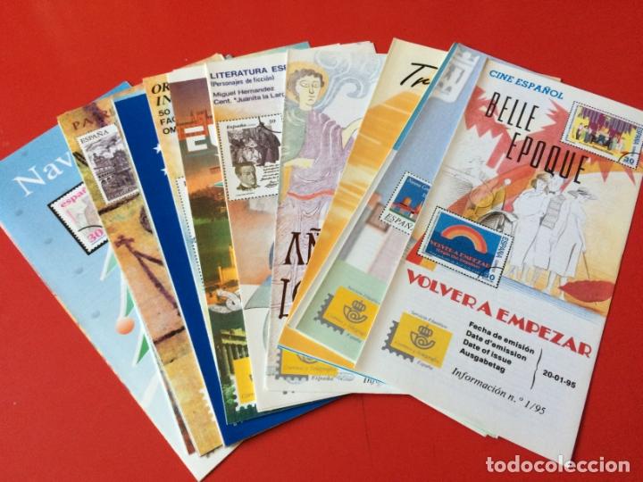 AÑO 1995---- 28 FOLLETOS INFORMATIVOS SERVICIO FILATELICO CORREOS (Filatelia - Sellos - Catálogos y Libros)