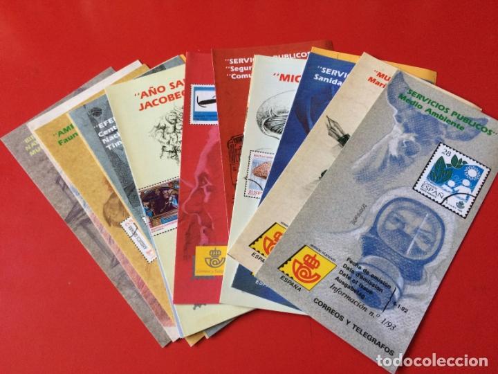 AÑO 1993---- 23 FOLLETOS INFORMATIVOS SERVICIO FILATELICO CORREOS (Filatelia - Sellos - Catálogos y Libros)