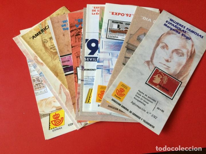 AÑO 1992---- 25 FOLLETOS INFORMATIVOS SERVICIO FILATELICO CORREOS (Filatelia - Sellos - Catálogos y Libros)