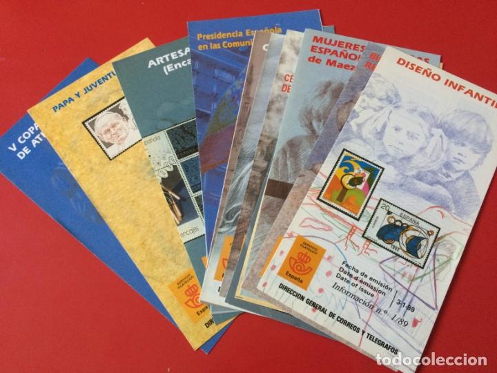 AÑO 1989---- 16 FOLLETOS INFORMATIVOS SERVICIO FILATELICO CORREOS (Filatelia - Sellos - Catálogos y Libros)