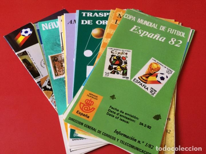 AÑO 1982---- 18 FOLLETOS INFORMATIVOS SERVICIO FILATELICO CORREOS (Filatelia - Sellos - Catálogos y Libros)