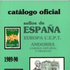 Sellos: CATALOGO OFICIAL SELLOS DE ESPAÑA 1989-90; ANFIL, S.A.. Lote 166219006