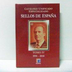 Sellos: CATÁLOGO UNIFICADO ESPECIALIZADO EDIFIL SELLOS DE ESPAÑA TOMO IV 1991 - 2010 SELLO FILATELIA LIBRO. Lote 166948172