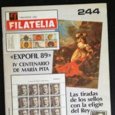 Sellos: RF REVISTA DE FILATELIA, Nº 244 - OCTUBRE 1989. Lote 167475208