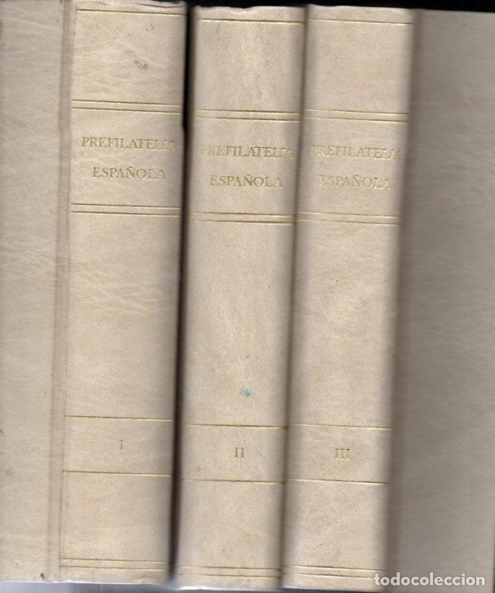 GUINOVART Y TIZÓN : PREFILATELIA ESPAÑOLA - 3 TOMOS (1983) COMO NUEVOS (Filatelia - Sellos - Catálogos y Libros)