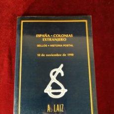 Francobolli: 2 LIBROS ESPAÑA COLOTIAS EXTRAJERO SELLOS HISTORIA POSTAL AÑOS 1990 Y 1992 FILATELIA SELLOS. Lote 168988440