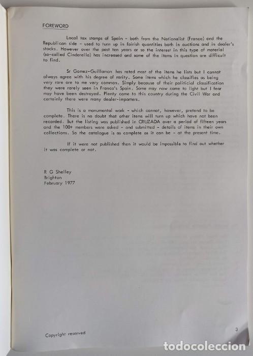 Sellos: THE REPUBLICAN LOCAL WAR TAX STAMPS 1936-1939 Spanish Philatelic Society Bookclub Nº9. F. Gómez-Guil - Foto 5 - 170148150