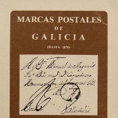 Selos: MARCAS POSTALES DE GALICIA. HASTA 1870. ANDRÉS GARCÍA PASCUAL.. Lote 170201500