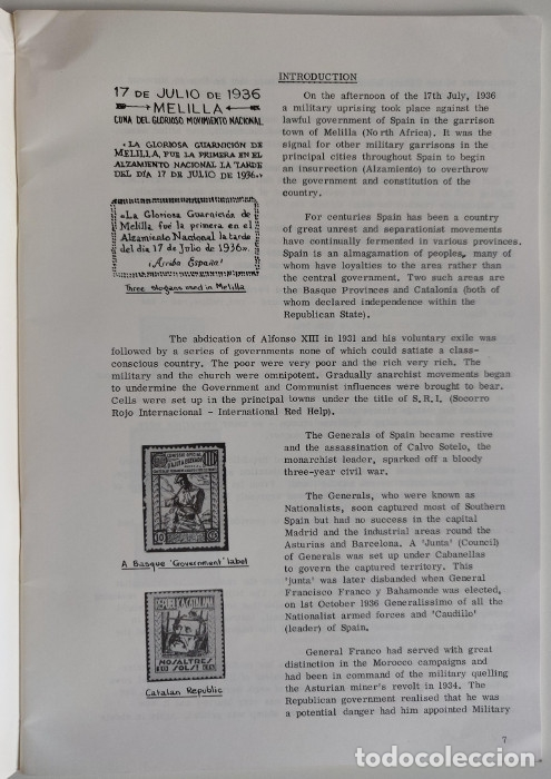 Sellos: The Postal History of the Spanish Civil War 1936-1939 Spanish Philatelic Society Bookclub Nº1. Ronal - Foto 5 - 170148146