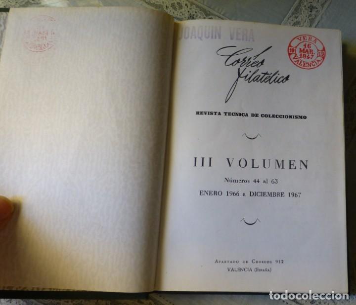 Sellos: Revista Correo Filatélico - Valencia Filatélica Tomo III 1966-67 Nº 44 al 63 - Foto 2 - 170237536