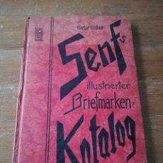 Sellos: GEBRUDER. SENFS KATALOG 1935. DEUTSCHLAND. ILLUSTRIERTER BRIEFMARKEN. . Lote 171301102