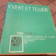 Sellos: YVERT ET TELLIER TOME 3 - 1988. Lote 171498943