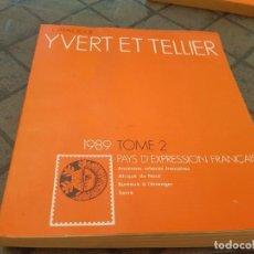 Sellos: YVERT ET TELLIER TOME 2 - 1989. Lote 171499019