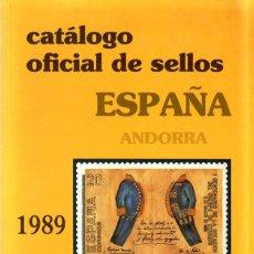 Francobolli: CATALOGO OFICIAL DE SELLOS ESPAÑA. 1889- 1989. ANDORRA.. Lote 172212062