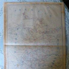Sellos: MAPA POSTAL DE LERIDA D. G. DE CORREOS Y TELEGRAFOS 1.920 MEDIDAS 45 X 30 CM.. Lote 172302027