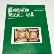 Sellos: FILATELIA LLACH, LOTE DE 17 CATALOGOS. 1978/1979. Lote 172797282